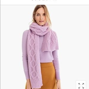 New J Crew Oversize cable knit scarf
